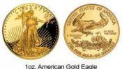 American Gold Eagle in 1 oz.
